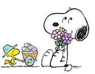 Woodstock and Snoopy celebrating Easter!