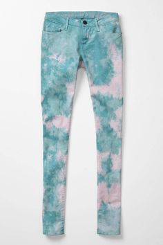 need to figure out how to tie dye as perfectly as these earnest sewn jeans from @Anthropologie .