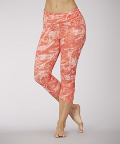 Another great find on #zulily! Fire Ice Tie-Dye Capri Leggings #zulilyfinds