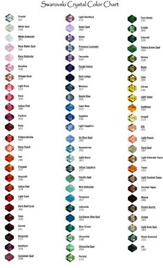 Swarovski Color Chart