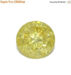 Valentines day Sale Yellow Natural Diamond, Round loose Diamond, Shiny diamond by BridalRings on Etsy https://www.etsy.com/listing/497038906/valentines-day-sale-yellow-natural