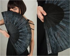 Goth Hand Fan and Folding hand fans with Sacred Geometry Cyberpunk Gothic Wedding Gift for Her Goth Outfit, Jedi Outfit, Assassins Creed, Festival Outfits, Festival Fashion, Cyberpunk, Sacred Geometry Tattoo, Michaela, Dark Mori
