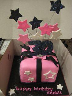 30th birthday cake - Shooting stars by kristin_a (Meringue Bake Shop), via Flickr