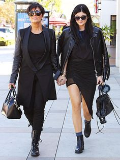 Mother, daughter duo Kris and Kylie Jenner—both in oh-so-trendy sunnies—showed a united front, holding hands during an outing in Calabasas, Calif.