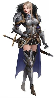 55 Ideas fantasy art knight posts for 2019 Fantasy Girl, Chica Fantasy, Fantasy Female Warrior, Female Armor, Female Knight, Warrior Girl, Fantasy Armor, Fantasy Women, Medieval Fantasy