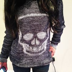 Perhaps I could bleach or spray paint a skull onto one of my sweaters???
