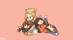 Chibi, Twice Fanart, Bff Drawings, Hello My Love, Twice Kpop, Cute Cartoon Wallpapers, Kpop Fanart, Feeling Special, Aesthetic Art