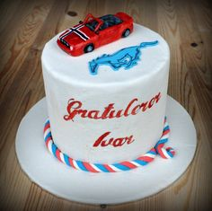 Mustang cake - gluten free and marzipan Mustang Cake, Gluten Free Cakes, Marzipan, Birthday Cake, Desserts, Food, Birthday Cakes, Meal, Deserts