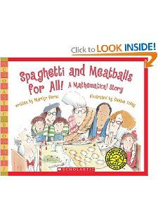 Spaghetti And Meatballs For All! by Marilyn Burns - use to teach area and perimeter