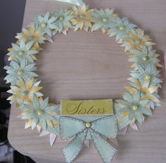 Hand Embellished 'Sisters' Wreath