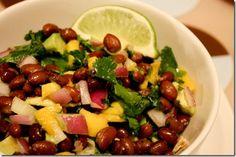 Mango and Black Bean Salsa | via the Swanky Dietitian