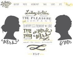 Hand Lettered Wedding Website by Molly Jacques via Oh So Beautiful Paper. Love the look of this website!