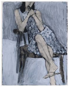 """ ~Diebenkorn~ Seated Woman #44 (1966) """