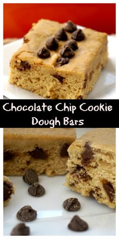 Chocolate Chip Cookie Dough Bars- @shawsimpleswaps