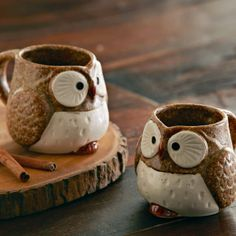 Brown Owl Mugs - Set of 2