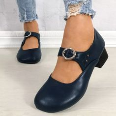 Women Pumps Chunky Low Heels Ladies PU Leather Buckle Shoes Female - These shoes are the perfect pair to increase your height, stretch your legs, and easily match every outfit, jeans or maxi dress! #chunkyheels #sandalssummer #sandalsoutfit #sandalsheels #heels #heelsclassy #heelswithjeans #heelsprom #icuteshoes #blockheelsoutfit #blockheelsoutfitjeans #blockheelsoutfitjeansstreetfashion #heelsclassyelegant #heelsclassyelegantoutfit #heelsoutfits #heelsoutfitscasual #heelswithjeansoutfit Block Heels Outfit, Casual Heels Outfit, Heels Outfits, Sandals Outfit, Outfit Jeans, Low Heel Shoes, Low Heels, Leather Buckle, Women's Pumps