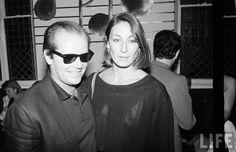 Jack Nicholson and Anjelica Huston, 1980s.