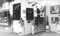 Dada wall in the Degenerate Art Exhibition, 1937