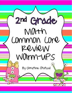 2nd Grade Math Common Core Review Warm-Ups - Christine Statzel - TeachersPayTeachers.com