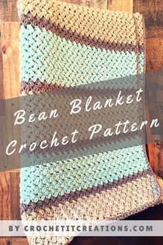 Make this beautiful Bean Blanket with the FREE crochet Pattern by Crochet It Creations. It is full of elegance and textures