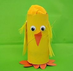 Toilet Paper Roll Easter Chick Craft