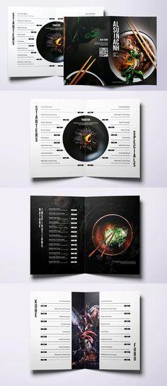 Asian Cuisine Elegant Food Menu Template PSD Japanese Restaurant Menu, Japanese Menu, Restaurant Poster, Restaurant Menu Design, Thai Food Menu, Chinese Menu, Brochure Food, Sushi Menu, Menu Layout