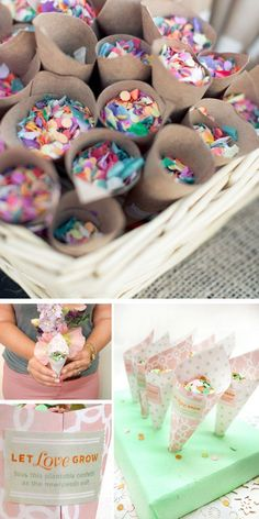 DIY Confetti Cones | Click Pic for 22 DIY Summer Wedding Ideas on a Budget | DIY Garden Wedding Ideas on a Budget