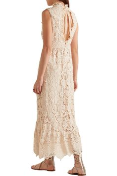 Shop on-sale Anna Sui Romantique ruffled crocheted lace maxi dress. Browse other discount designer Dresses & more on The Most Fashionable Fashion Outlet, THE OUTNET.COM
