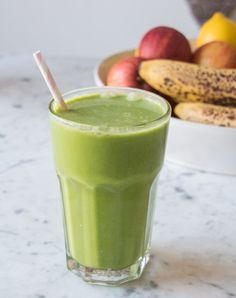 Green Coconut Smoothie | Deliciously Ella
