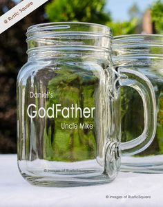 Godfather Mug Godfather Glass Godfather Gift by RusticSquare