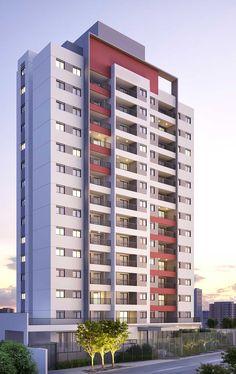 Fachada Building Elevation, Building Exterior, Building Facade, Building Design, Futuristic Architecture, Facade Architecture, Residential Architecture, Design Exterior, Facade Design