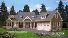 Boulder Brook Cottage House Plan 06379- love the master bathroom layout