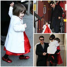 Hair - cabelo - pelo - beautiful - bonita - hermoso - moda - look - style - estilo - inspiration - inspiração - fashion - elegant - elegante - chic - black - preto - coat - White - branco - dress - vestido - Ralph Lauren Children - red - vermelho - Shoes - sapato - pantyhose - meia calça - Tights - kid - child - criança - baby - bebê - daughter - filha - hija - father - pai - padre - dad - papai - papá - mother - mãe - madre - mom - mamãe - mamá - happy family - família feliz - Suri