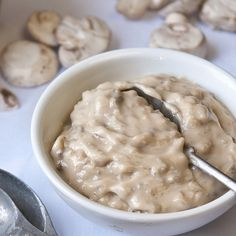 Make your own Condensed Cream of Mushroom Soup-less than 5 minutes. Has to be better for you than the canned stuff!!
