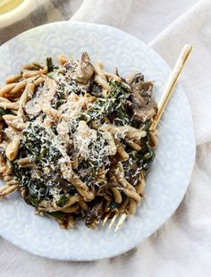 One-Pot Mushroom and Swiss Chard Pasta | 30 Delicious Things To Cook In April