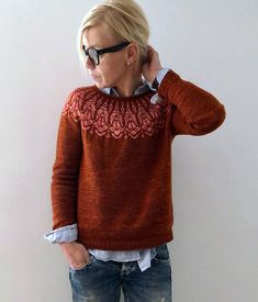Chauncey sweater Knitting pattern by Isabell Kraemer - Stricken Cardigan 2019 Sweater Knitting Patterns, Knitting Designs, Knit Patterns, Jersey Jacquard, Cardigan En Maille, Ravelry, Looks Street Style, Fair Isle Knitting, How To Purl Knit