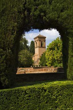 Alhambra Palace is a Moorish citadel or hilltop palace overlooking Granada