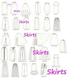 jupes = differents modèles