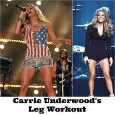 Carrie Underwood's Leg Workout and I want this for the 4th of July!