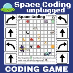 "Unplugged Coding Activity for Space. Students will be engaged with this simple introduction to block-style coding. This style of coding is called ""unplugged"" programming without computers. Activities to print and go. Save over 25% by buying this product as part of a bundleCODING BUNDLE UnpluggedAfte..."