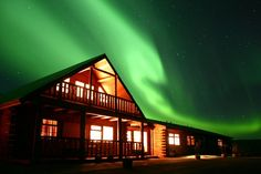 The northern lights as seen from Hotel Ranga, Iceland #honeymoon #hotels #iceland
