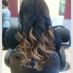 Ombre for dark hair