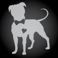 Pittie Chicks Bow Tie Pit Bull Transparent Etched by PittieChicks, $7.00