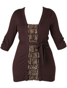 Love the purpley brown shade & ruffled cami