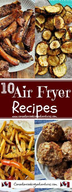 10 Easy Air Fryer Recipes #10 #air #fryer #recipes #recipe #keto #paleo #easy #quick #simple #zucchini #eggplant #chicken #wings #ribs #eggplant #meatballs #pork