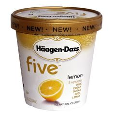 This is my very favorite ice cream - five brand from Haagen-Dazs, lemon flavor. Unfortunately, I can rarely find it.