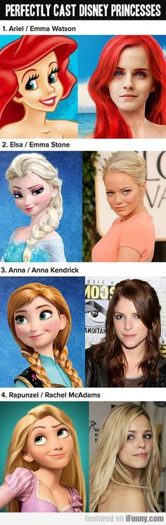 Perfectly Cast Disney Princesses...