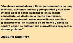 Joseph Murphy fue un prolífico escritor irlandés nacido en 1898. Se desempeñó también como ministro de la Iglesia de la Ciencia Divina y fue representante destacado del Movimiento del Nuevo Pensamiento durante el siglo XX.