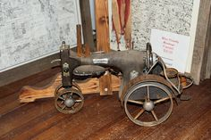 Toy Tractor made from a Sewing Machine by cjkahler, via Flickr