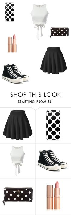 """Untitled #207"" by kaybabync on Polyvore featuring Converse and Kate Spade"